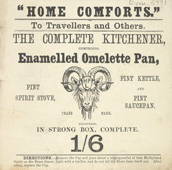 Advert For An Enamelled Omlette Pan